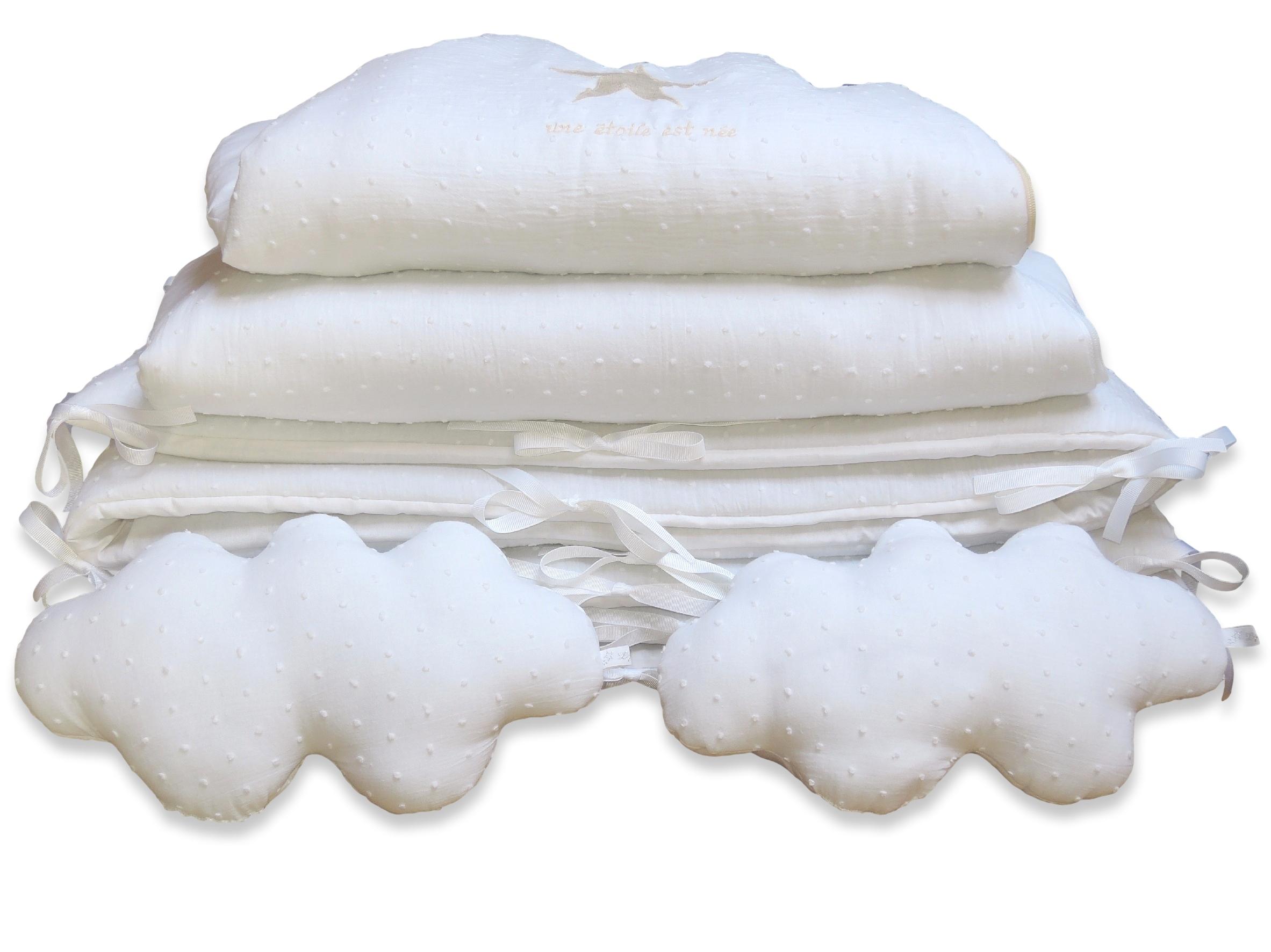 tour de lit bébé blanc uni mai | 2015 | Les p'tites Merveilles de Bérénice tour de lit bébé blanc uni