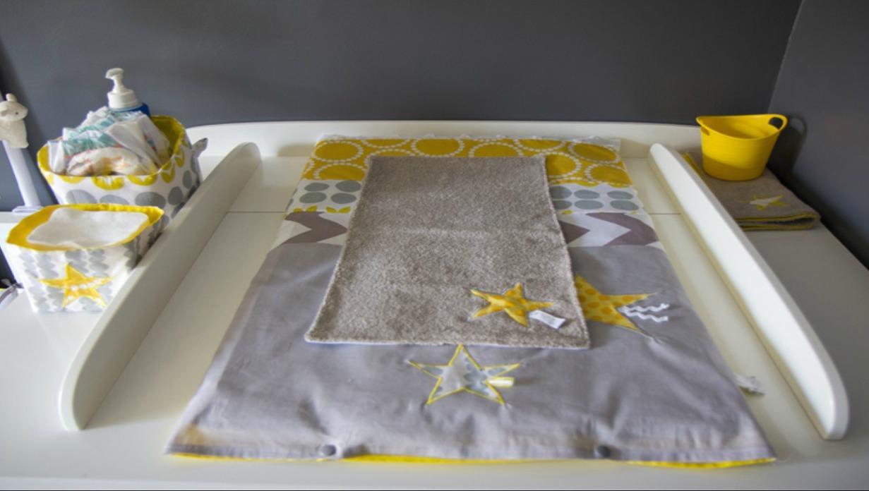 Stunning plan langer bb gris jaune blanc with chambre jaune et gris - Chambre ado jaune et blanc ...